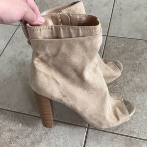 JustFab suede high top shoes